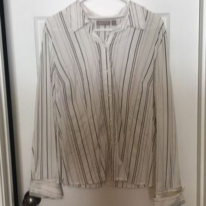 Croft and Barrow Button down striped.  Size XL
